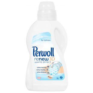 Perwoll, 1 л, Рідкий засіб для прання білих тканин, White Effect 3D