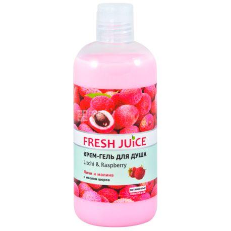 Fresh Juice, 500 мл, Крем-гель для душу, Geisha Litchi & Raspberry