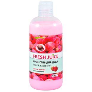 Fresh Juice, 500 мл, Крем-гель для душа, Geisha Litchi & Raspberry