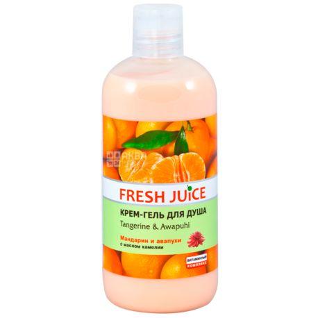 Fresh Juice, Tangerine & Awapuhi, 500 мл, Крем-гель для душа, Мандарин и авапуха