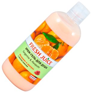 Fresh Juice, 500 мл, Крем-гель для душу, Tangerine & Awapuhi