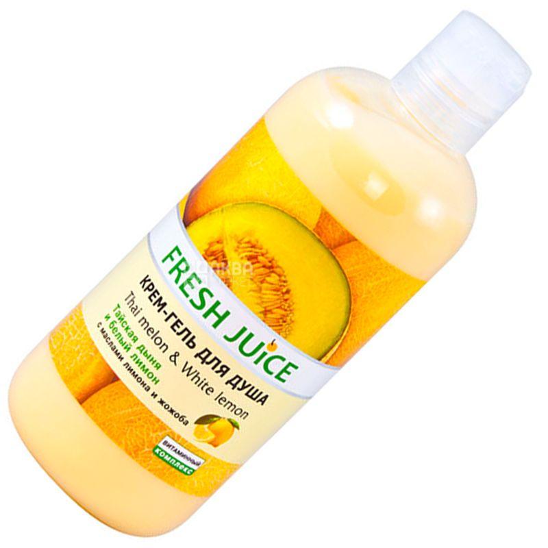 Fresh Juice, 500 мл, Крем-гель для душа, Thai melon & White Lemon