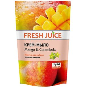 Fresh Juice, 460 мл, Крем-мыло, Mango & Carambol