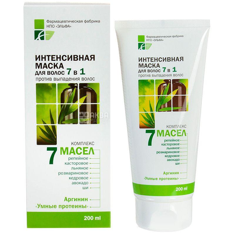 Elfa Pharm, 200 мл, Маска для волос, Интенсивная, Комплекс 7 масел, Против выпадения