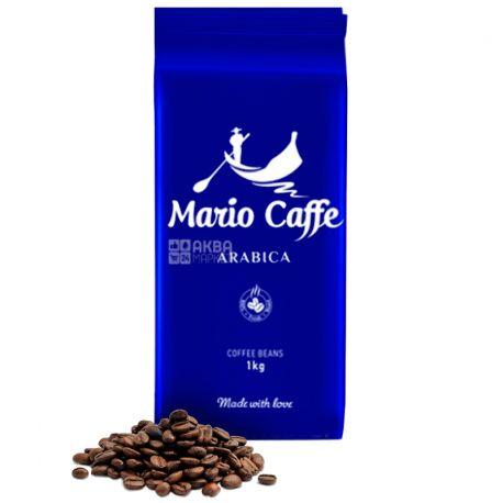 Mario Caffe Arabica, 1 кг, Кофе Марио Каффе Арабика, средней обжарки, в зернах