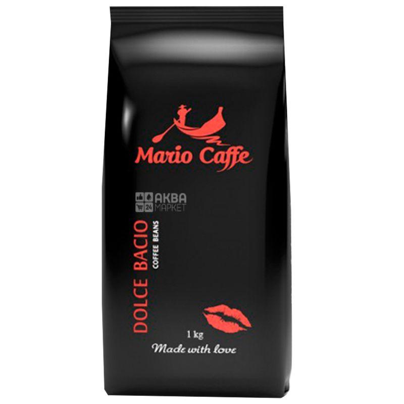 Mario Caffe Dolce Bacio, 1 кг, Кофе Марио Каффе Дольче Басио, светлой обжарки, в зернах