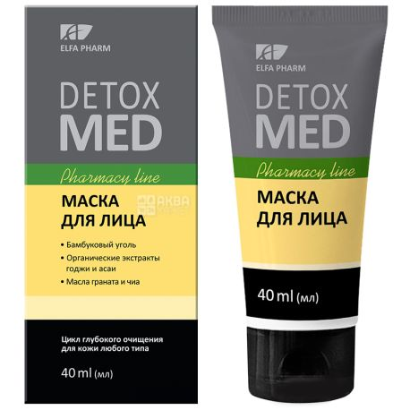 Elfa Pharm, 40 мл, Маска для лица, Detox Med