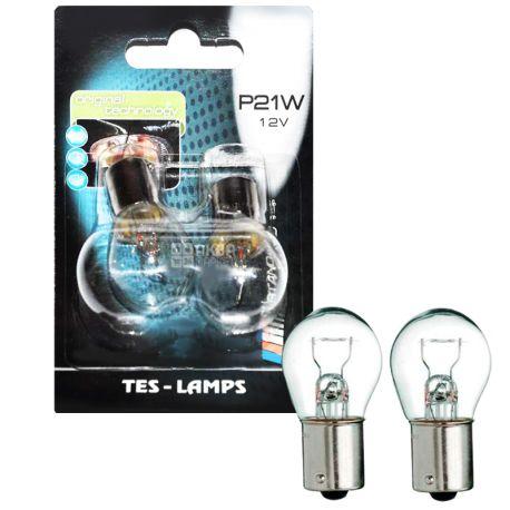 Tes-lamps, 2 шт., Лампа галогенна, А 12-21