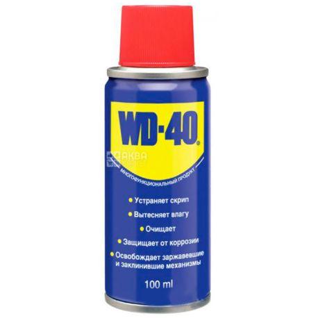 WD-40, 100 мл, Смазка, Спрей, ж/б