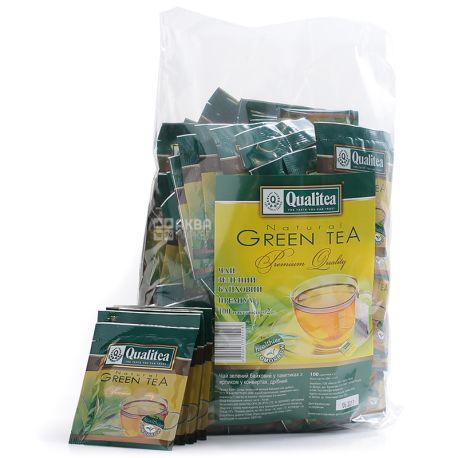 Qualitea, 100 шт., Чай зеленый, HoReCa