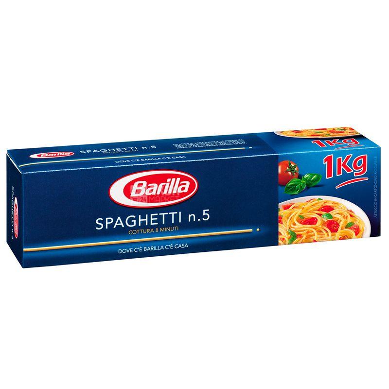 Barilla Spaghetti #5, 1 кг, Макароны Спагетти №5
