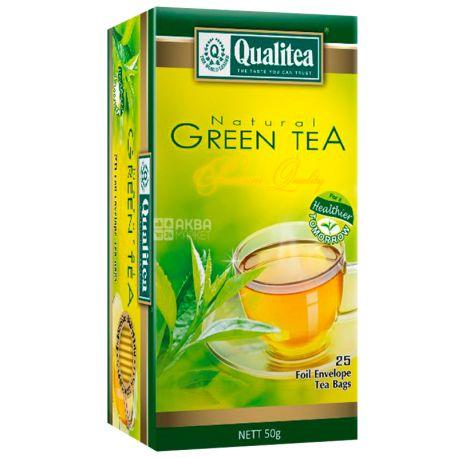 Qualitea, Premium, 25 пак., Чай Кволіті, Преміум, зелений