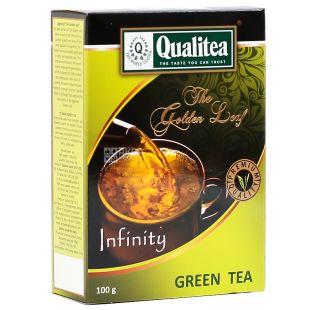 Qualitea, Infinity, 100 г, Чай Кволити, Инфинити, зеленый, среденелистовой