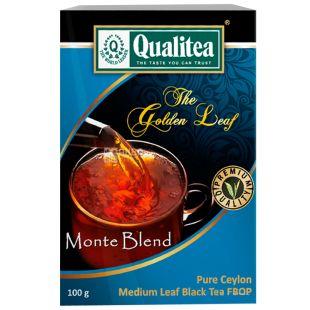 Qualitea, Monte Blend, 100 г, Чай Кволити, Монте Блэнд, черный, среднелистовой