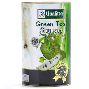 Qualitea, Soursop, 100 г, Чай Кволіті, Саусеп, зелений, тубус