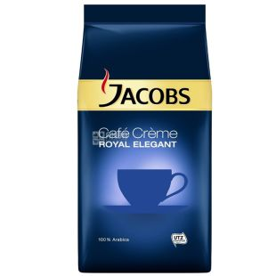 Jacobs, 1 кг, Кава в зернах, Cafe Creme, Royal Elegant, м/у