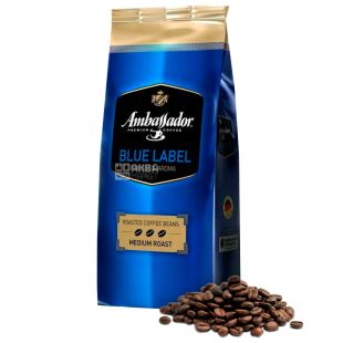 Ambassador Blue Label, 1 кг, Кофе в зернах Амбассадор Блю Лэйбл