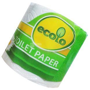 Ecolo, 1 рул., Туалетний папір Еколо, 2-х шаровий