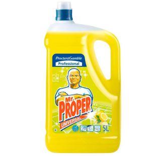Mr. Proper, 5 л, Средство для мытья полов и стен, Дезинфицирующее, Лимон