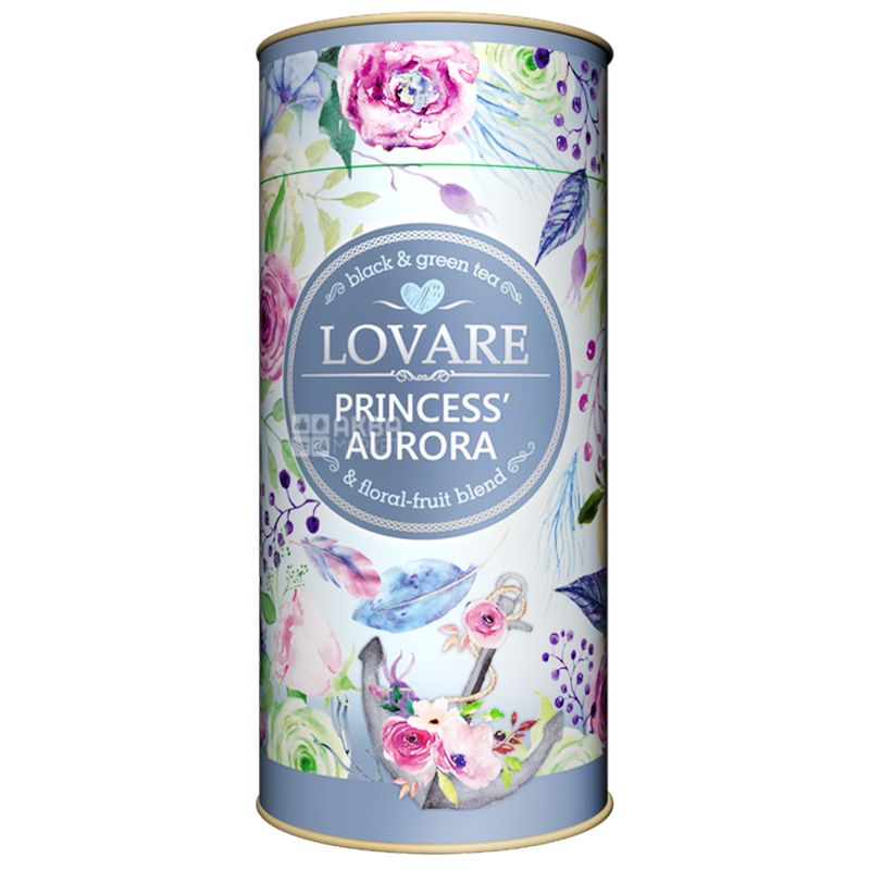 Lovare, 80 g, Tea, Blend of black and green, Princess Aurora