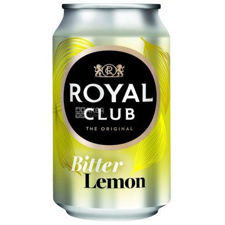 Royal Club, 0,33 л, Сладкая вода, Bitter Lemon, ж/б