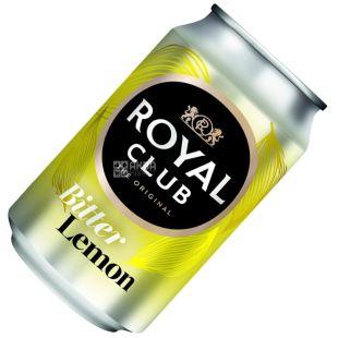Royal Club, 0,33 л, Солодка вода, Bitter Lemon, ж/б