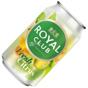 Royal Club, 0,33 л, Солодка вода, Fresh Citrus, ж/б