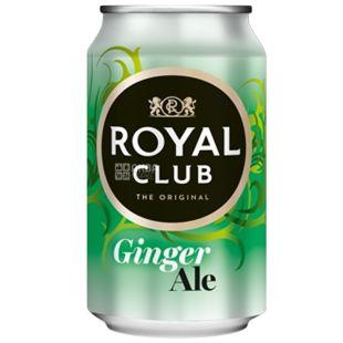 Royal Club, 0,33 л, Солодка вода, Ginger Ale, ж/б