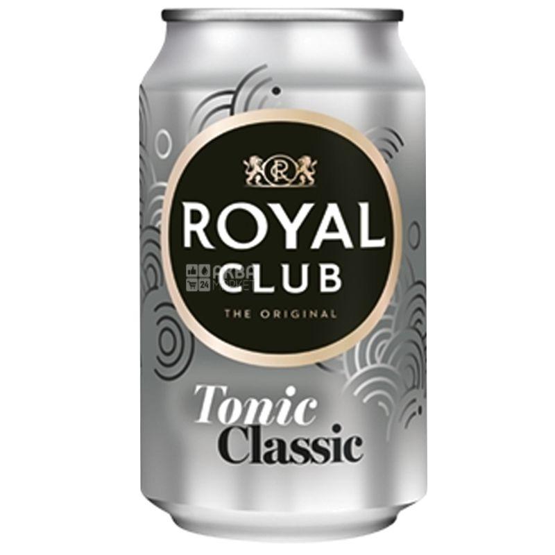 Royal Club, Toniс Classic, 0,33 л, Роял Клаб, Классический, Тоник безалкогольный, ж/б