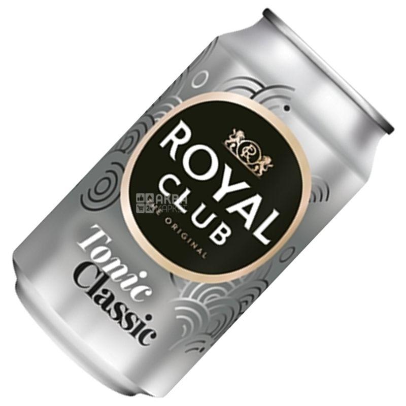Royal Club, Toniс Classic, 0,33 л, Роял Клаб, Класичний, Тонік безалкогольний, ж/б