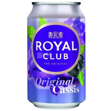 Royal Club, Original Cassis, 0,33 л, Роял Клаб, Черная Смородина, Напиток газированный, с натуральным соком, ж/б