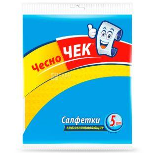 Chesno Chek, 5 pcs., Absorbent wipes