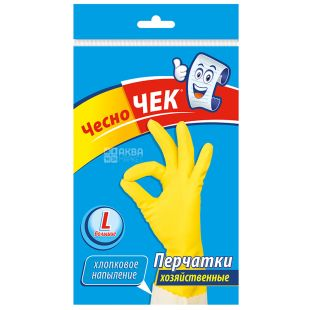 Chesno Chek, size L, Household gloves, Latex