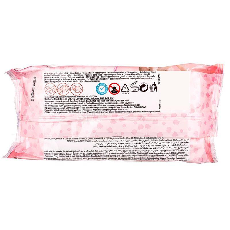 Huggies Soft skin, 56 шт., Серветки вологі дитячі