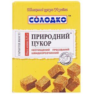 Солодко, 250 г, Сахар Природный, Неочищенный, Прессованный, Быстрорастворимый