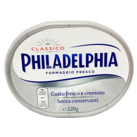 Philadelphia  Classico, 220 г, 4%, Крем Сыр