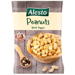 Alesto Roasted peanuts with black pepper, 150 g