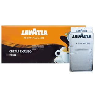 Lavazza, Crema e gusto Forte, 1 кг (4 шт. Х 250 г), Кава Лаваца, Крему е густо Форте, темного обсмаження, мелена