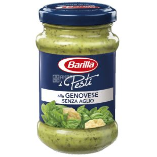 Barilla Pesti alla Genovese without garlic, 190 г, Соус Песто
