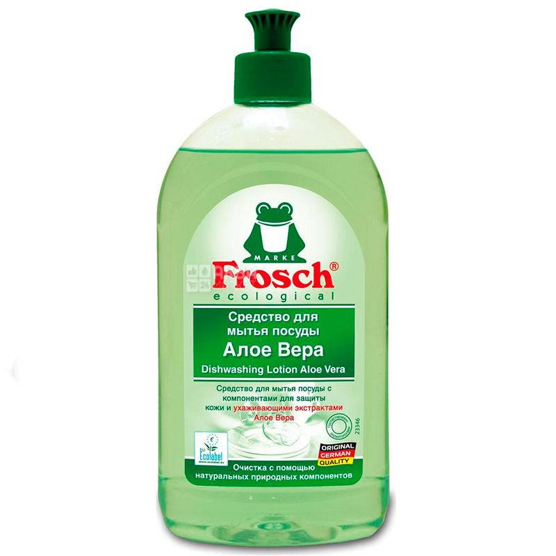 Frosch, Алоэ Вера, 500 мл, Бальзам-концентрат для мытья посуды