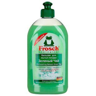 Frosch, 500 мл, Бальзам для миття посуду, Зелений чай