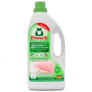 Frosch, 1,5, Бальзам для прання вовняних та ніжних тканин, З мигдальним молочком