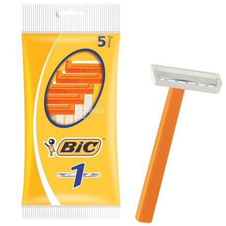BIC, 5 шт., 1 лезо, Cтанок для гоління, Sensetive