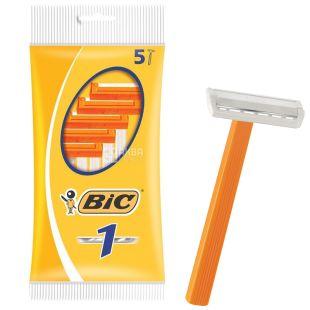 BIC, 5 шт, 1 лезвие, Бритвенный станок, Sensetive