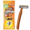 BIC, 4 pcs, 3 blades, Razor, For sensitive skin