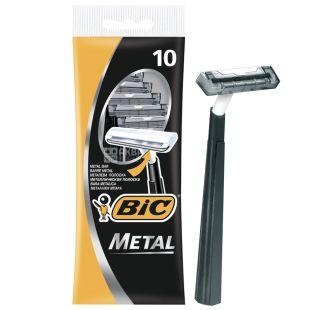 BIC, 10 pcs, 1 Blade, Razor, Metal
