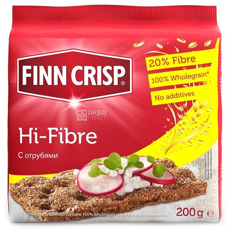 Finn Crisp, 200 г, Хлібці житні, З висівками