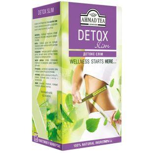 Ahmad Tea Detox Slim, 20 пак, Чай трав'яний Ахмад Ті Детокс Слім для схуднення