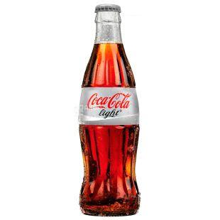 Coca-cola, 0,25 л, Солодка вода, Light, скло
