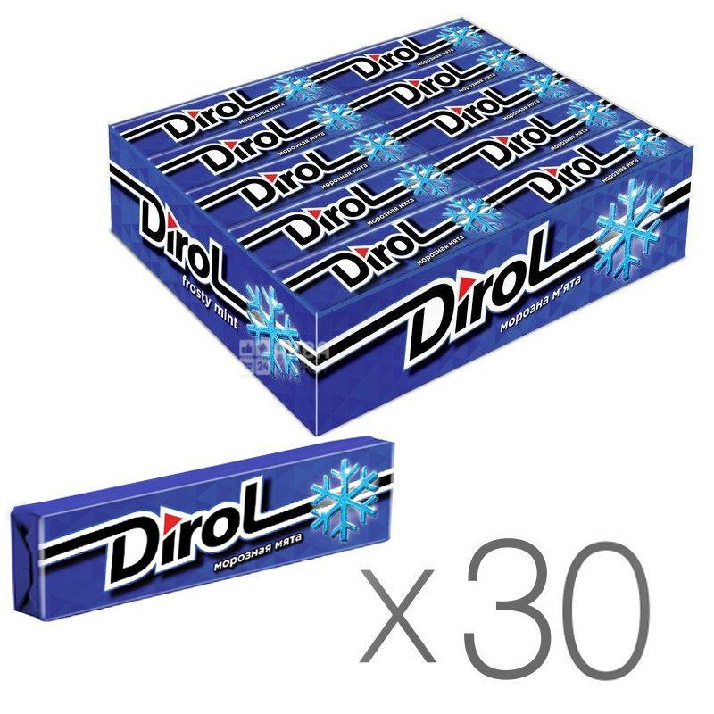 Dirol, Упаковка 30 шт. по 14 г, Морозная мята